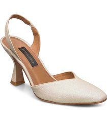 agatha, 884 glitter shoes shoes heels pumps sling backs beige stine goya