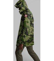 canada goose men's crew trench coat - cg camo - l