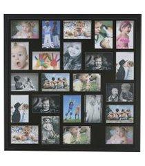 painel quadro multifotos 23 fotos 10x15 c/ profundidade moldura caixa preta