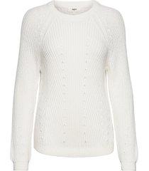 objmaya l/s knit pullover noos stickad tröja vit object