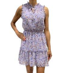 be bop juniors' sleeveless floral dress
