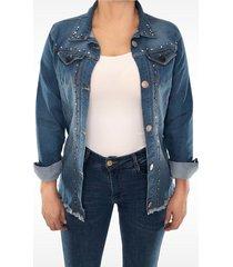 chaqueta clasica dama jeans di bello jeans  classic jeans ref c094