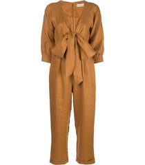 nicholas tied front jumpsuit - yellow