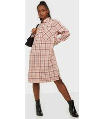 y.a.s yasebru ls checked long shirt dress loose fit dresses