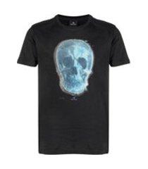ps paul smith camiseta decote careca com estampa de caveira - preto