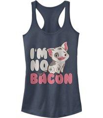 disney juniors' moana not bacon ideal racerback tank top