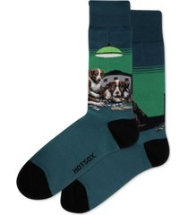 hot sox men's poker dog socks
