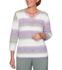 alfred dunner petite loire valley beaded knit sweater