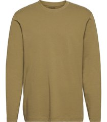 slhrelaxcolman200 ls o-neck tee w t-shirts long-sleeved brun selected homme