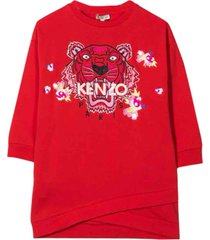 kenzo tiger embroidery dress