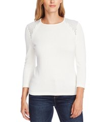 vince camuto studded 3/4-sleeve sweater