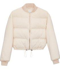 matt & nat kenya vegan bomber jacket, off-white