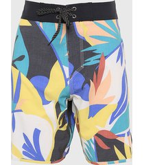 traje de baño multicolor quiksilver highline tropical flow