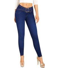 jeans colombiano control abdomen azul new rodivan