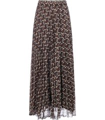 parosh pirko print pleated chiffon skirt