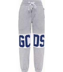 gcds pantalone in felpa logato