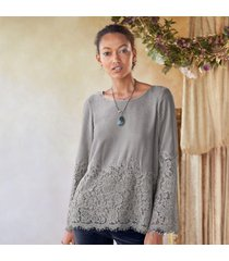 lace cascade blouse