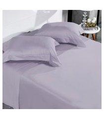 jogo de cama 300 fios casal 100% algodáo penteado toque acetinado lille - tessi.
