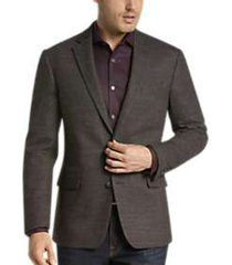 awearness kenneth cole brown tic slim fit sport coat
