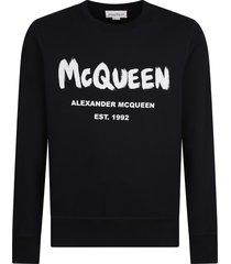 alexander mcqueen branded sweatshirt