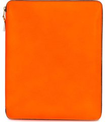comme des garçons wallet colour-block zip-up wallet - orange
