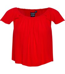 crop blouse blouses short-sleeved röd superdry
