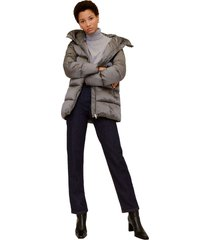 chaqueta gris plata mng