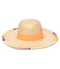 chapéu feminino pescador com corrente - bege