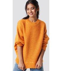 trendyol bat sleeve knitted sweater - orange