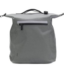 ally capellino structured square backpack - grey