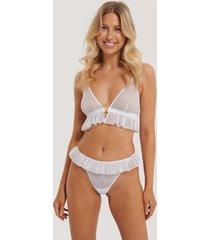 na-kd lingerie spetsstringtrosor - white