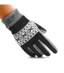 uomo guanti con dita coperte invernali caldi in pelle di maiale antiscivolati antiventi da outdoor