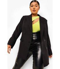 plus long line blazer, black