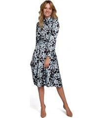 lange jurk makover k085 spaghettiband midi-jurk - model 1