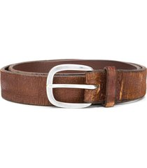 orciani distressed finish belt - brown