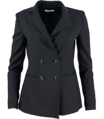 barba napoli double-breasted blazer jacket with buttons and welt pockets in wool