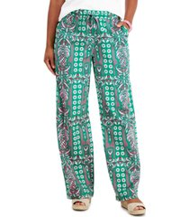charter club printed pull-on pants, created for macy's