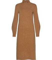 lumba knit dress knälång klänning beige soft rebels