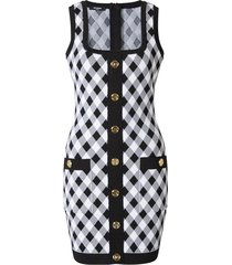 geruite mini-jurk