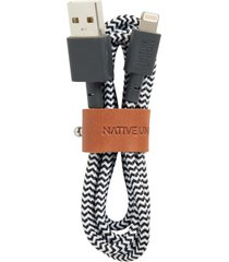 native union belt lightning to usb charging cable, size one size - black