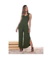pantacourt m&a modas macacão verde militar