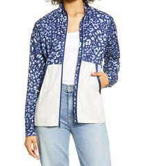 tommy bahama leisure island front zip jacket, size medium in island navy at nordstrom