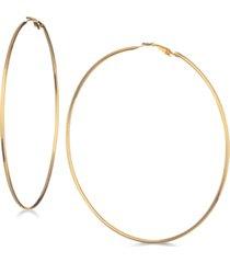 """guess 3 1/4"""" large hoop earrings"""