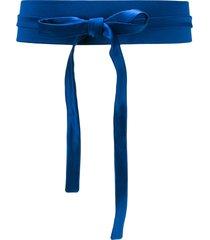 gianluca capannolo victoria wide belt - blue