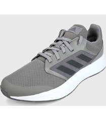 tenis running gris-blanco adidas performance galaxy 5