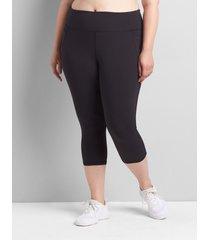 lane bryant women's livi high-rise livi soft capri legging with pockets 34/36 black