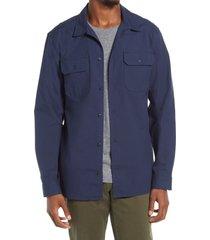 bp. long sleeve utility shirt, size medium in navy iris at nordstrom
