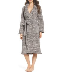 women's barefoot dreams cozychic unisex robe, size 1 - brown
