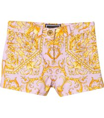 young versace shorts with baroque press
