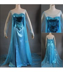 frozen elsa costume elsa coronation cosplay outfit elsa coronation dress custom